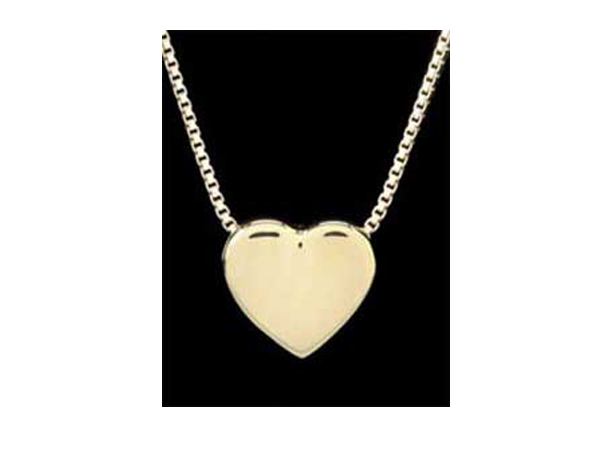 Gold Vermeil Sliding Heart