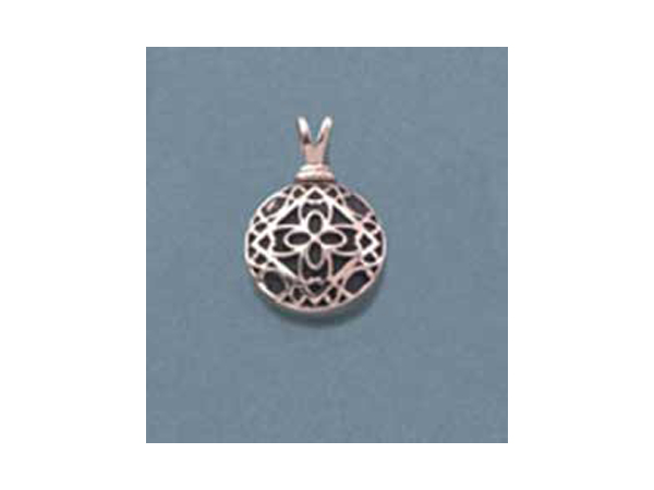 Sterling Silver Filigree Round