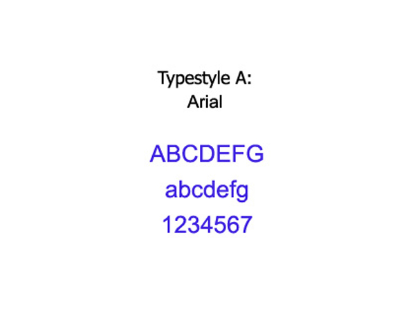 Typestyle A - Arial