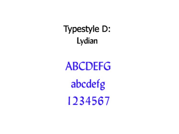 Typestyle D - Lydian